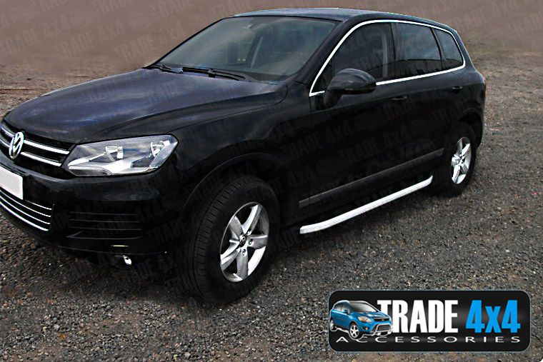 vw touareg side steps alyans running boards uk stock 2003 on trade price ebay. Black Bedroom Furniture Sets. Home Design Ideas