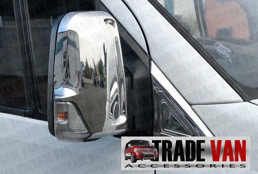 Mercedes sprinter w906 van chrome mirror covers pair 2006 for Mercedes benz sprinter parts and accessories