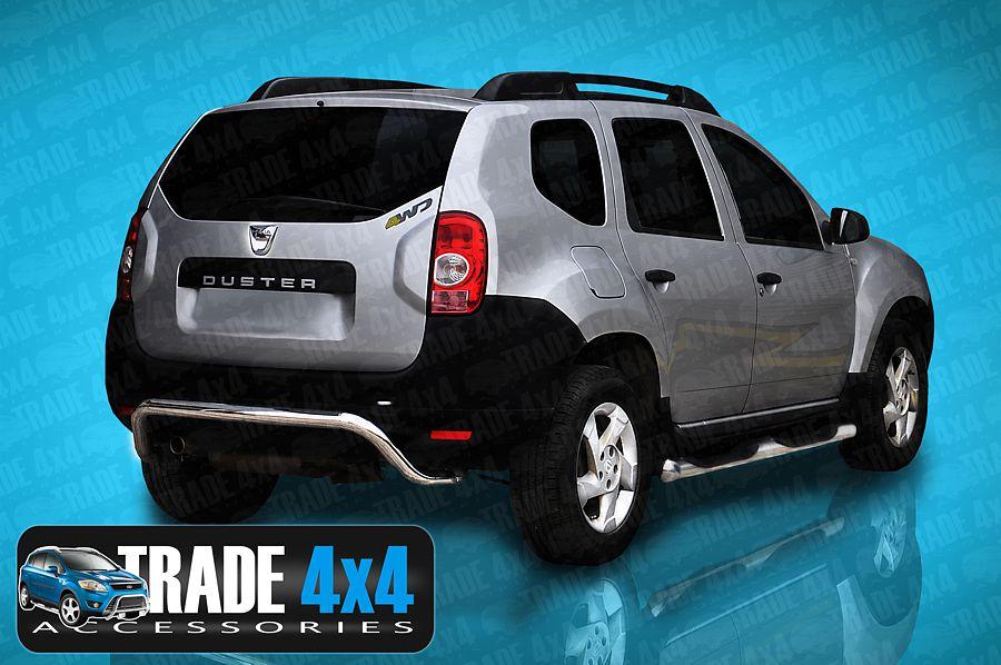 dacia duster rear bar viper ak007 2010 up duster rear bumper guard protection. Black Bedroom Furniture Sets. Home Design Ideas