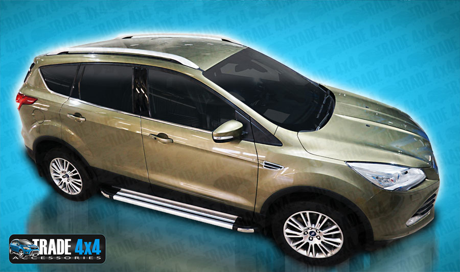 ford kuga 2013 on side steps running boards brilliant kuga 4x4 suv steps ebay. Black Bedroom Furniture Sets. Home Design Ideas