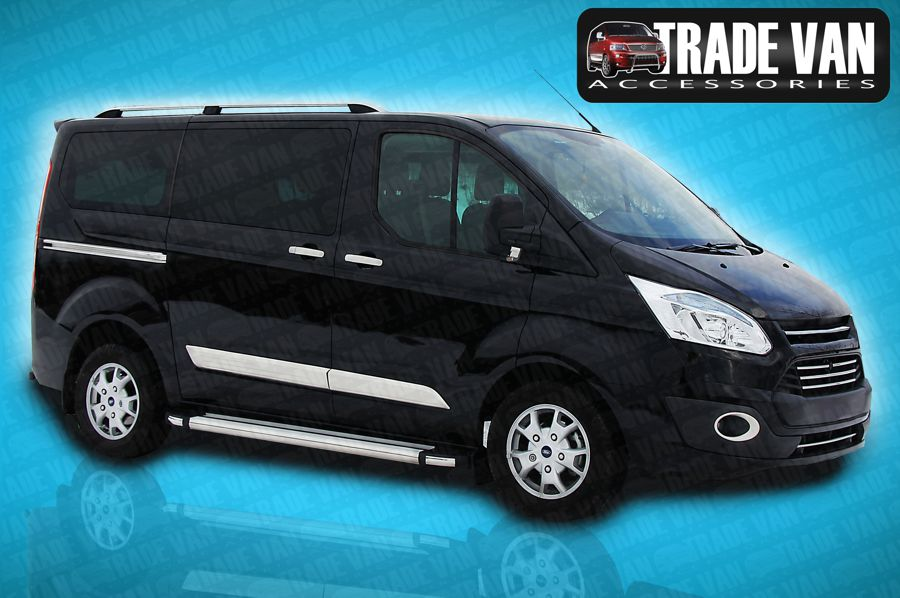 ford transit custom side steps tx r silver swb. Black Bedroom Furniture Sets. Home Design Ideas