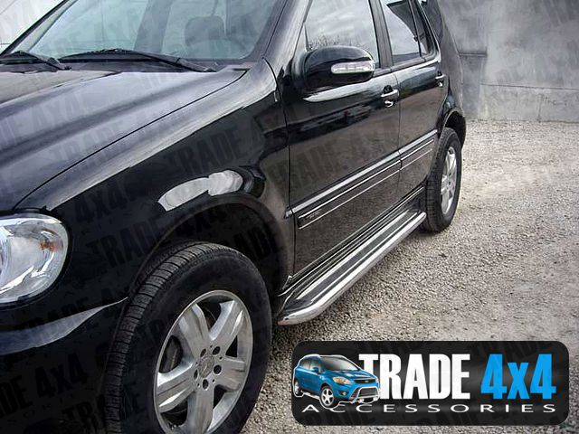 Mercedes ml w163 side steps running boards bars c2 for Mercedes benz ml accessories