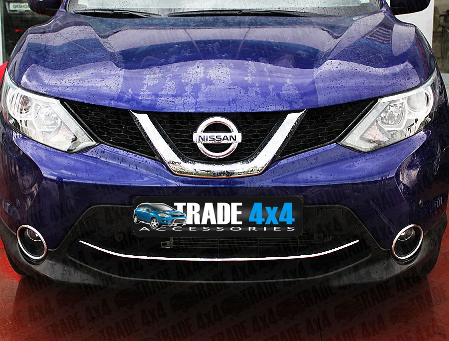 nissan qashqai 2014 front bumper streamer cover stainless. Black Bedroom Furniture Sets. Home Design Ideas