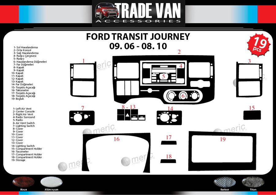 transit wood dash kit ford 06 10 parts list parts online ford parts online catalog uk