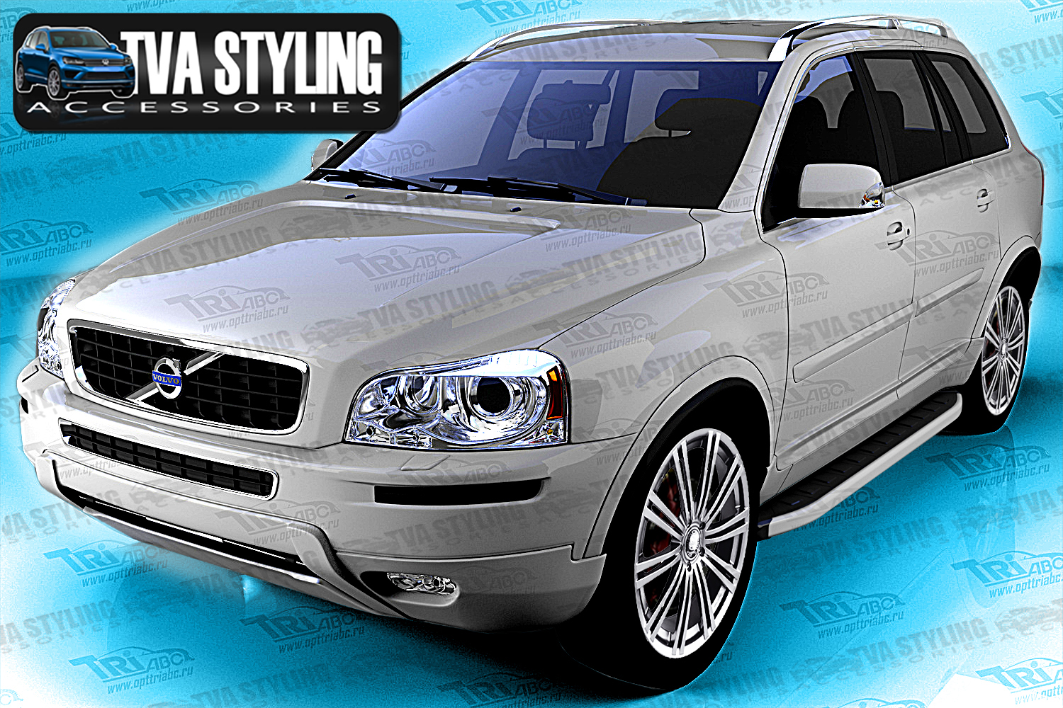 volvo xc90 side steps alyans running boards 2008 up uk stock trade prices. Black Bedroom Furniture Sets. Home Design Ideas
