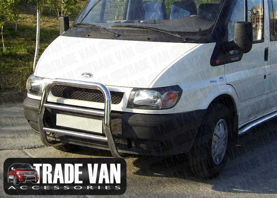 Ford Transit Van Front A Bar Bullbar Chrome Stainless Steel New