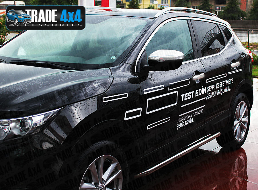Our Nissan Qashqai 2014 Door Handle Covers really enhance the side styling  of your J11 Qashqai