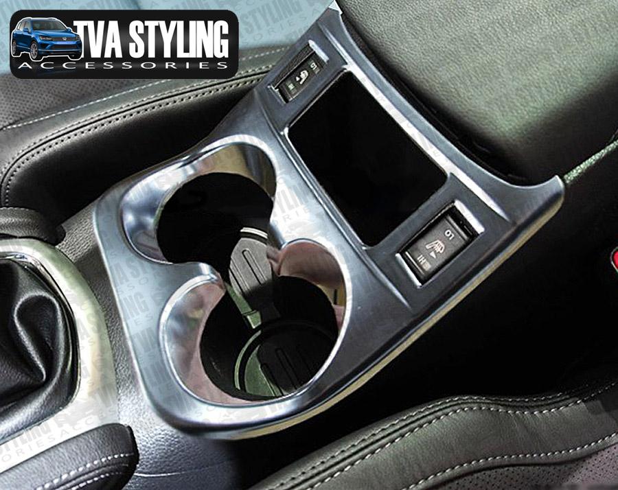 nissan qashqai 2014-on chrome interior cup holder cover trim uk