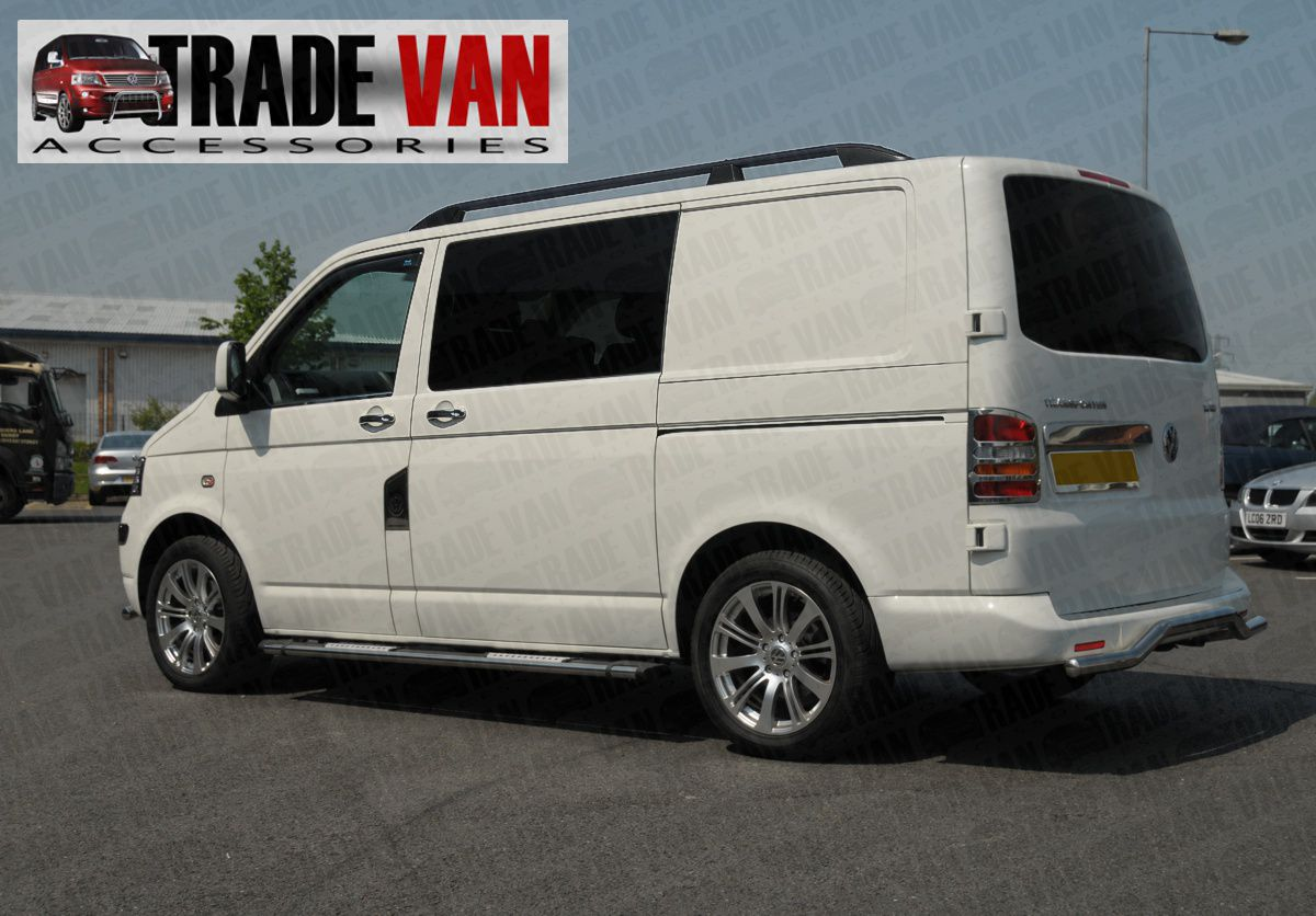 vw t5 transporter lwb barres de toit noir tx3 sahara vw t5 caravelle ebay. Black Bedroom Furniture Sets. Home Design Ideas
